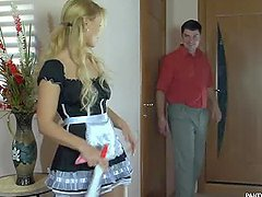 Horny Blonde Maid Blanch Gets Fucked..