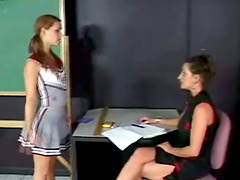Kinky cheerleader is being punished by..