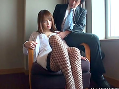 Japanese Babe in Fishnet Stockigns..