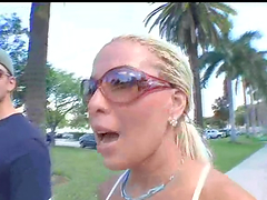 Blonde with big tits banged by a big cock in reality porn video