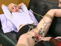 Horny Lorelei Lee gets stimulated with..