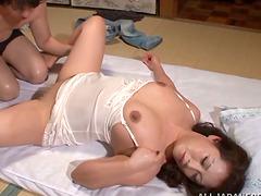 Chubby Japanese Neko Ayami Masturbates..