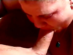 Horny BBW With Huge Tits Gives Blowjob..