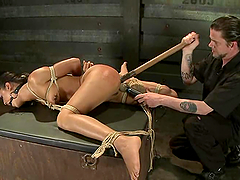Sizzling Lyla Storm gets tied up and..