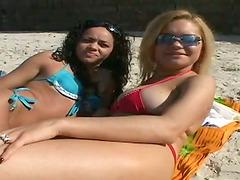 Hot Brazilian girl Erica Vieira gets..