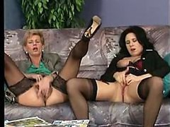 Spectacular German MILFs Share a Big..