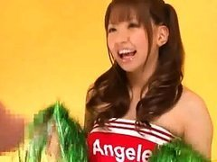 Buruma Aoi wears a cheerleader costume..