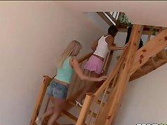 Brunette blonde teens Nataly Ellen..