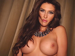 Luxury brunette siren is in a real hot..