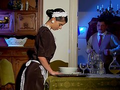 Sexy maid Jessyka Swan gets her ass amazingly fucked from behind