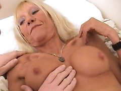Mature blonde Kay fuck in missionary..