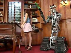 Robot love with a desirable babe Sarah..