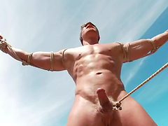 Hardcore gay BDSM outdoors with no..