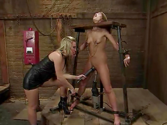 Gorgeous Babe Fucked by Machine and..