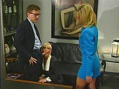 Vicious Blonde Office Sluts Suck and..