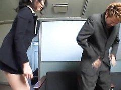 Stunning Asian Secretary Gives a Hot..