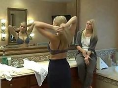Mature Blonde Seduces A Hot Blond Teen In Lesbian Action Vid