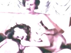 Retro babe having group sex
