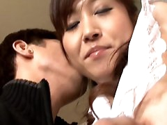 Asian babe receiving warm stimulation
