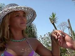 Rough outdoors fun with a sexy Brazilian