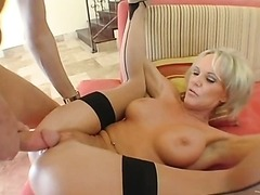 Busty Blonde MILF Gets Nailed By A..