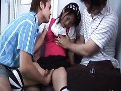 Fngering a Sexy Asian Schoolgirl