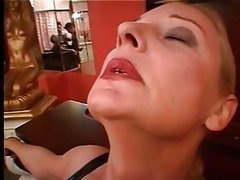 Blonde Mature Dominatrix Sucks and..