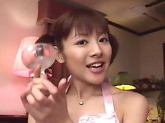 Amazing Asian schoolgirl swallows good..