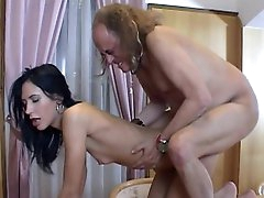Sexy brunette Marjory banging with an..