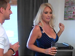 Hot blonde milf with big tits gets..