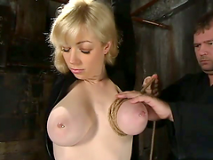 Hot Toying Action for Blonde Adrianna..