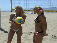 Four Blonde Lesbians Share Toys and..