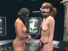 Fetish wrestling with two smoking hot..