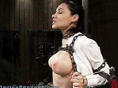 Busty Brunette Milf Gets An Orgasm..