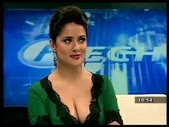 Salma Hayek exposes her tits