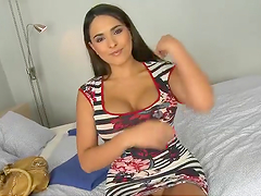 Busty bitch gets her gash stuffed with..