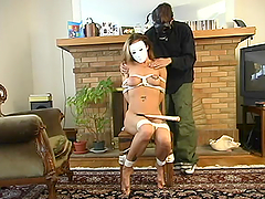 Horny Ruby gets tied up and dominated..