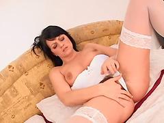 White Slut Gets Big Black Cock Deep In..