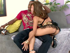 Asian Jackie Lin Getting Her Tight Pussy Banged by Big Black Cock