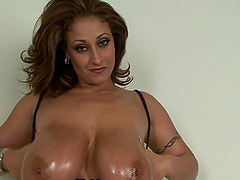 Huge-breasted mom gives a blowjob and..