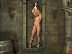 Brunette Melissa Lauren gets toyed in..