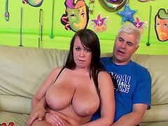 Chubby Brandy Talore gets licked and..