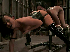 Exotic chick Candace Von is being humiliated by Sandra