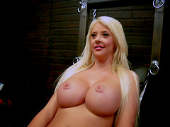Busty Bitch Gets Put on the Torture..