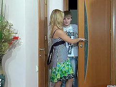 Guy Gets Fucked by Gorgeous Blonde..