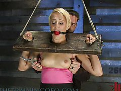 Gag Ball In Her Mouth and a Vibrating..
