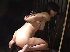 Blindfolded babe being humiliated so..