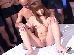 Japanese babe gives awesome deepthroat Uncensored