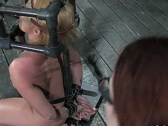 Slutty blonde mom gets mouth-fucked..