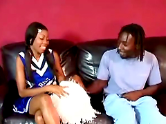 Passionate ebony is riding her dude in..